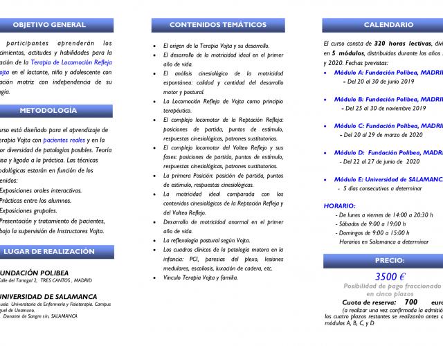 Curso de Terapia Vojta en Alteraciones Motoras Infantiles. XI edición