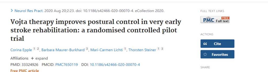 Nuevo enfoque desde la terapia Vojta para la mejora del control postural en la rehabilitación del ACV